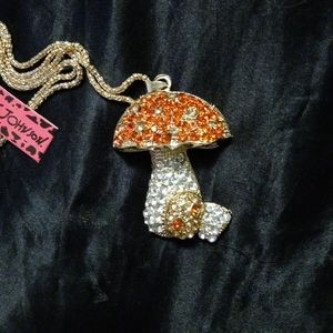 Betsey Johnson Magic Mushroom Necklace